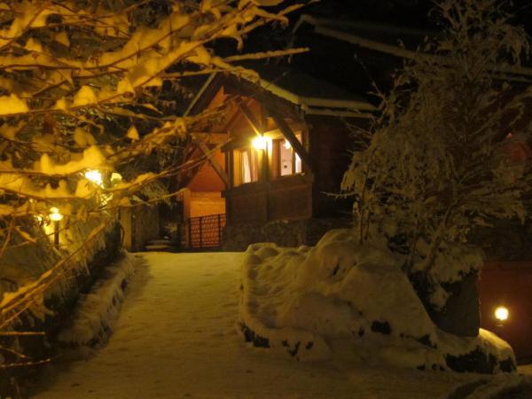 Chalet éclairé en hiver (4)