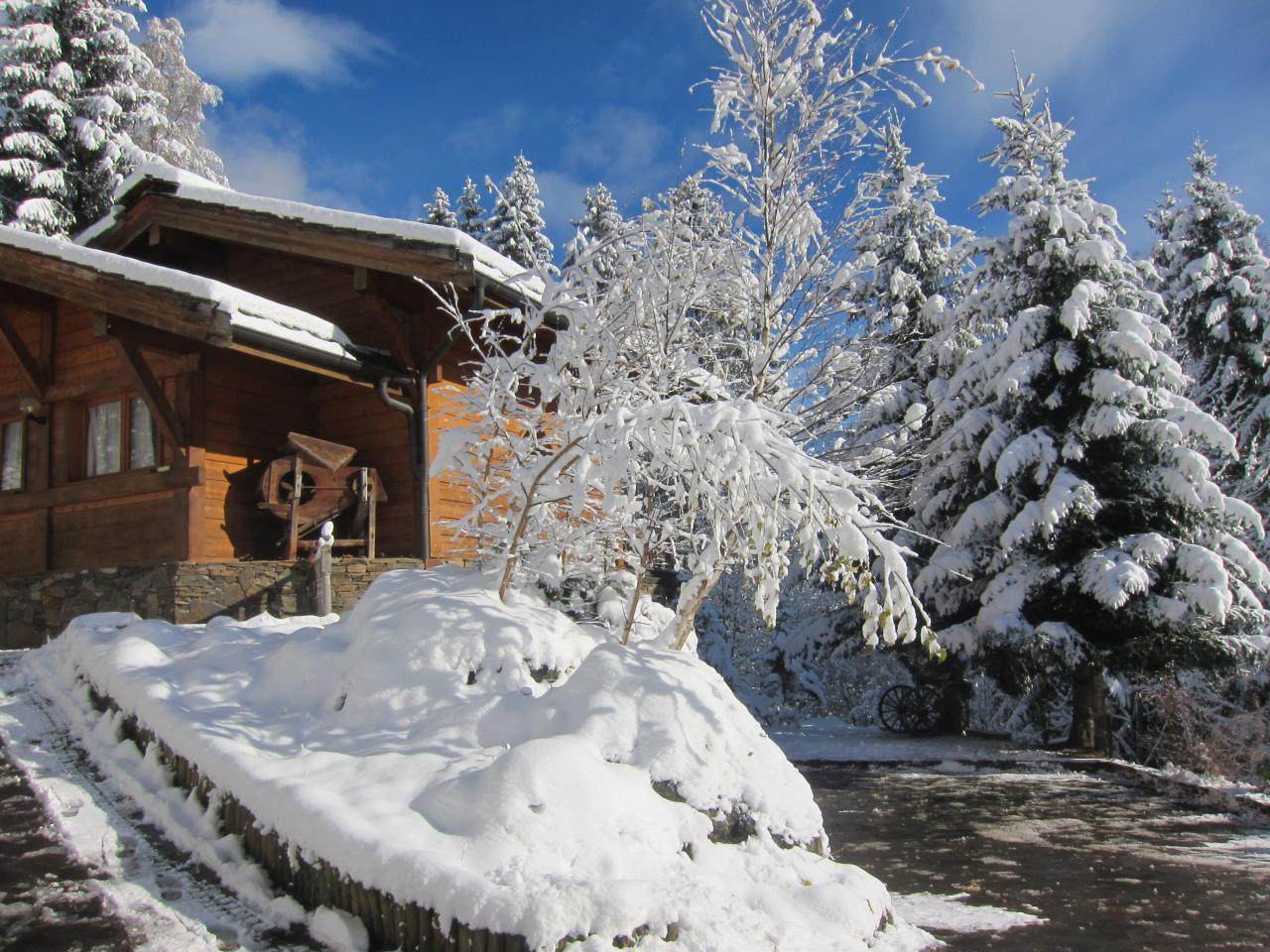 Chalet en hiver (2)